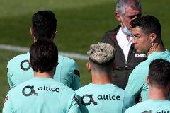 葡萄牙备战2021欧洲杯 C罗和国家队队友正在全力备战