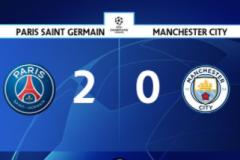 欧冠战报:巴黎2-0曼城 盖耶建功 梅西斩获巴黎生涯处子球